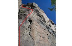 Rock Climbing Photo: Climb up and left, chain anchor is below and right...