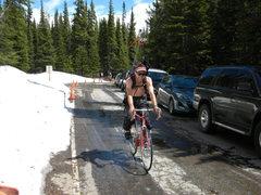 Rock Climbing Photo: Got to love the late season bike approach. Even th...