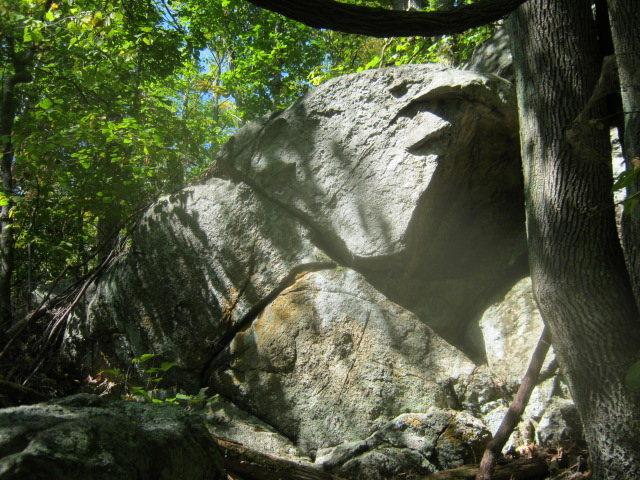 left most boulder