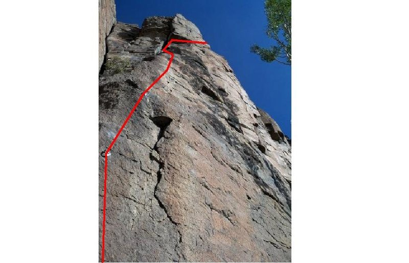 Rock Climbing Photo: East side of Missing Link