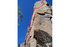 Rock Climbing Photo: North face and final crux of Missing Link