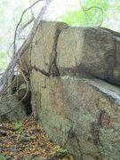 Rock Climbing Photo: main wall feature.