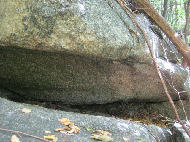 upper part of boulder.