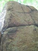 Rock Climbing Photo: upper reaches of problem