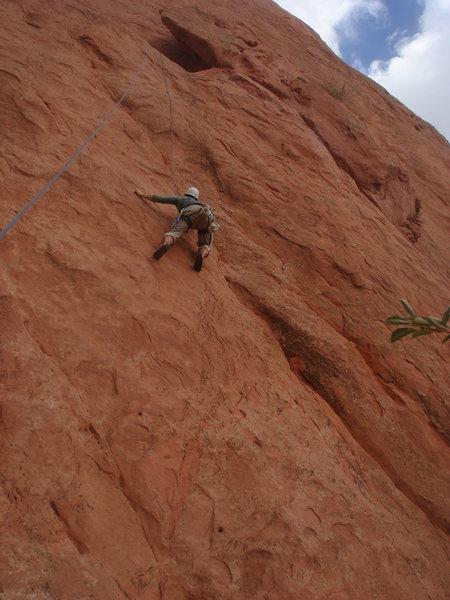 Rock Climbing Photo: Jason Partin on Lower Finger Direct.