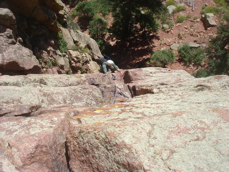 Rock Climbing Photo: Jason Partin coming up the Great Zot variation for...
