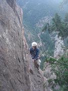 Rock Climbing Photo: Jason Partin on Rebuffat's Arete.