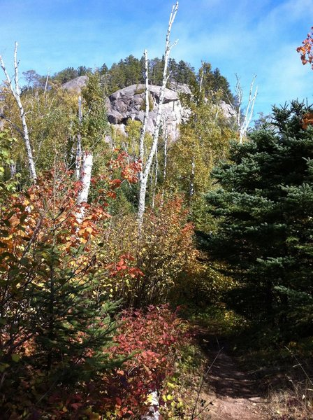 View of Carlton Peak from the Superior Hiking Trail coming from Temperance State Park