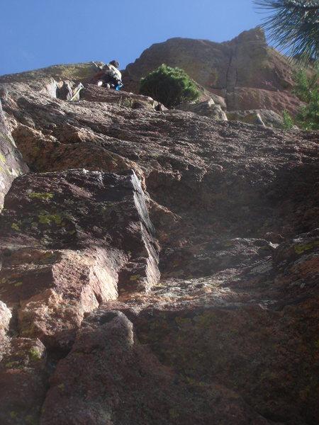Rock Climbing Photo: Keo leading P3.