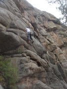 Rock Climbing Photo: CJ starting up Get High Street.