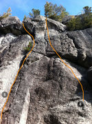 Rock Climbing Photo: routes #5 and #6