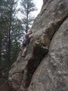 Rock Climbing Photo: Josh starting up Third World Cantina.