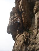Rock Climbing Photo: CJ leading the fun stuff on Tenth Avenue Freeze-Ou...