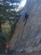 Rock Climbing Photo: Andrew Matthews leading Twilight Time.