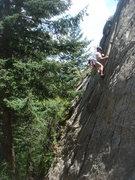 Rock Climbing Photo: Bill H. leading Twilight Time.