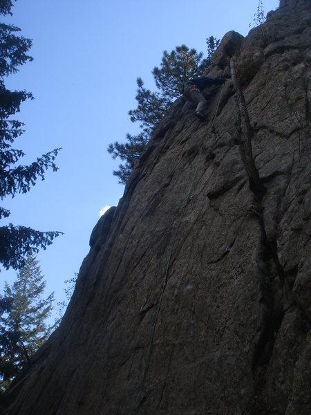 Rock Climbing Photo: Andrew Matthews finishing up Bobby's Back.