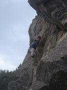 Rock Climbing Photo: Andrew Matthews leading Tag Team.