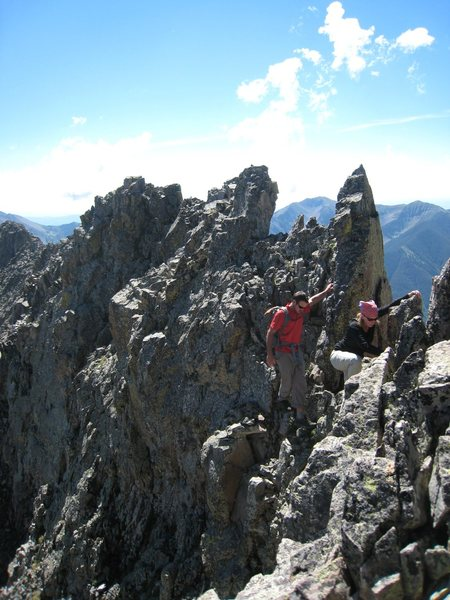 Rock Climbing Photo: Laura and Tye nearing Spiller on one of the steepe...
