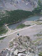 Rock Climbing Photo: Third class terrain above the route.