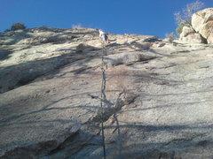 "Rock Climbing Photo: Kristina Leading 'Grunge and Ashes""."