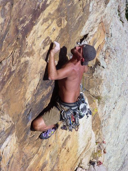 Rock Climbing Photo: Paul Barnes, above the love handle.