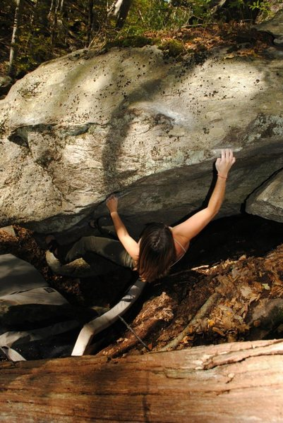 Rock Climbing Photo: Coming out the roof