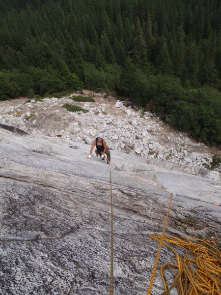Rock Climbing Photo: Regular Mouth, pitch two, Glacier Point Apron