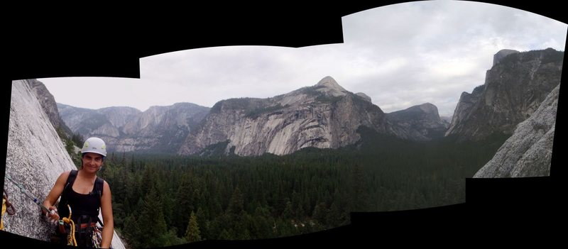 View of the Valley from Regular Mouth, Glacier Point Apron