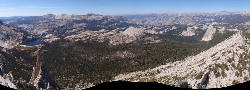 View NW from Cathedral Peak