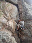 Rock Climbing Photo: Josh Gilbert leading A-Frame.