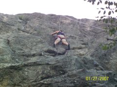 Rock Climbing Photo: Angel (5.6) one of the best leads on the cliff. Ni...
