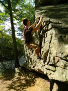 Rock Climbing Photo: Myself finishing up the arete.