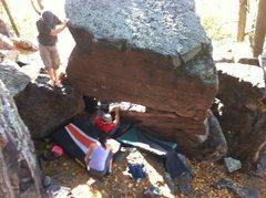 Rock Climbing Photo: Aaron on the start.