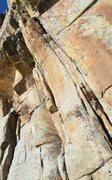Rock Climbing Photo: Crack start of Eagle's Beak.