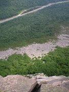 Rock Climbing Photo: Mid climb