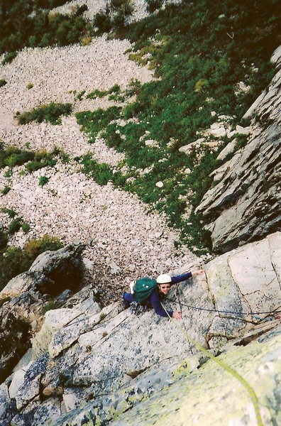 Just above the Crux Pipe Pitch