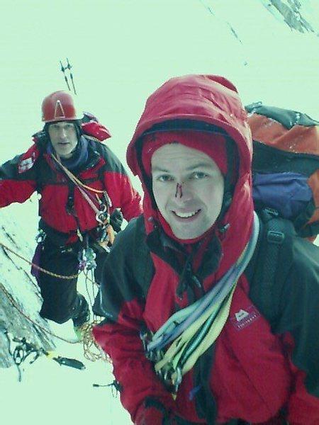 Rock Climbing Photo: Below the Crux ice