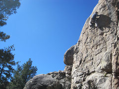 Rock Climbing Photo: Chris O leading on a wonderful Fall afternoon with...