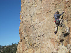 Rock Climbing Photo: Chris O leading this SoCal classic.