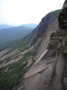 Rock Climbing Photo: View from above Triangular roof, looking twords th...