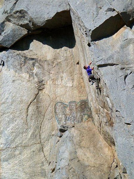 Ryan on Agony Arch (5.11b), Riverside Quarry