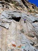 Rock Climbing Photo: Agony Arch (5.11b), Riverside Quarry