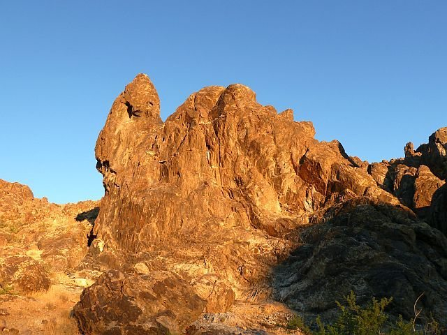 Rock Climbing Photo: Evening light on the Crucified Crag, NJC