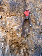 Rock Climbing Photo: Jason low on the Backside Arete (5.11d), NJC