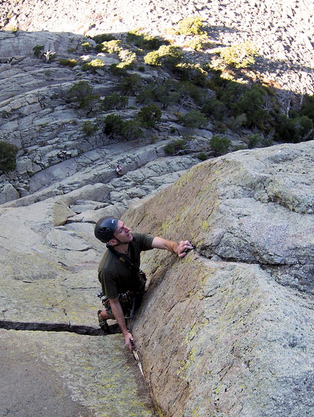 Sundance climber trying to unlock the final face sequence on Way Layed...
