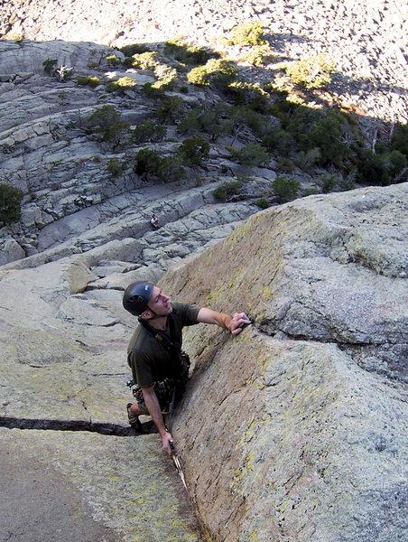 Rock Climbing Photo: Sundance climber trying to unlock the final face s...