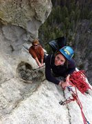 Rock Climbing Photo: Hailey and Lincoln at the end of the 2nd pitch bel...
