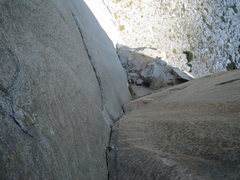 Rock Climbing Photo: Looking down at the LB pitch