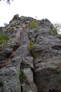 Rock Climbing Photo: Almost Overlooked Approximate Route.  The upper se...