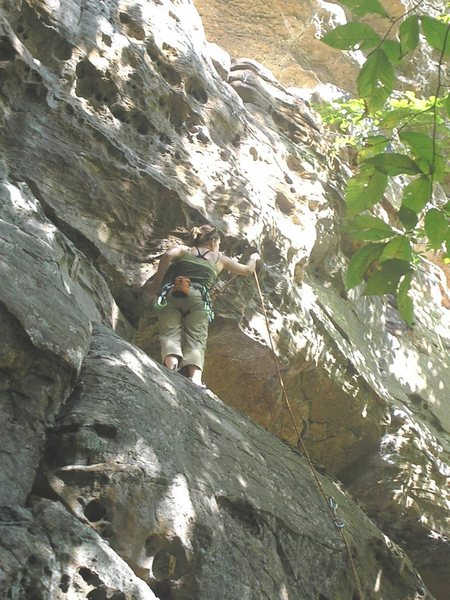 Rock Climbing Photo: clip and go for it